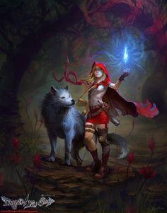 .Caperucita y el lobo
