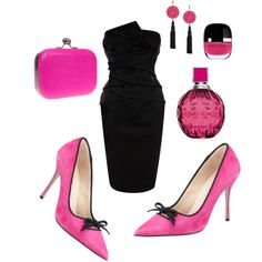 Date in black&pink