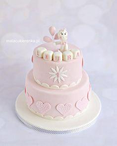 1st Pink Birthday Cake - Cake by Natalia Kudela