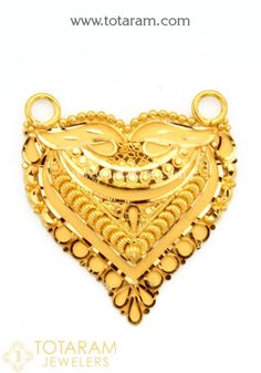 Gold Pendants - View and shop our collection of gold pendants made in India - Indian Gold Jewelry - Buy Online Antique Jewellery Designs, Fancy Jewellery, Gold Jewellery Design, Locket Design, Gold Mangalsutra Designs, Pinterest Jewelry, Gold Jewelry Simple, Gold Bangles, Alphabet
