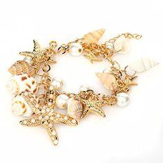 Gamesalor Women's Ocean Multi Starfish Sea Star Conch She...