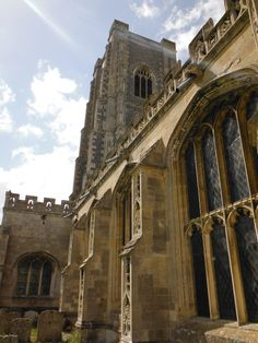The Parish Church of St Peter and St Paul in Lavenham, England, 6-29-2012