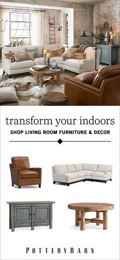 Picture your ideal living room. Whether it's a cushy home theater, a classic arrangement of sofas or a welcoming game room, you can make your dream living room design come to life with Pottery Barn's fantastic furniture collections. Shop today.