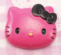 BIG Dark Pink Cute Kitty Flat Back #Cabochon Embellishment. #DIY #Craft #Decoden