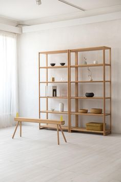 Kanto collection, by Iksas Cupboard Shelves, Storage Shelves, Shelving, Tv Shelf, Handmade Furniture, Home Decor Furniture, Furniture Design, Wood Joinery, Japanese Interior