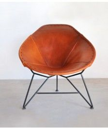 Oval Leather Chair.