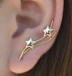 Stars Ear Pin  14K Gold Filled and Sterling by ChapmanJewelry, $36.00