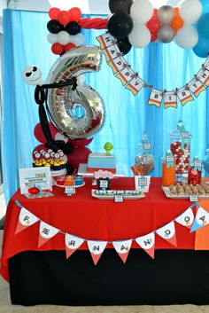 Infinity Birthday Party table!  See more party ideas at CatchMyParty.com!