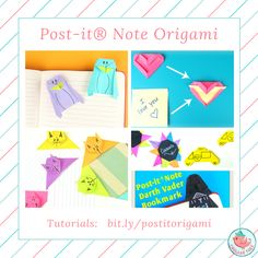Every Day is a Post-it (R) Note kind of day! :-) Learn how to make these Post-it(R) crafts, and more. TUTORIALS: bit.ly/postitorigami  Origami Designs & Tutorials by Jenny W. Chan, Copyright (C) 2016. Do not duplicate tutorials. For entertainment purposes only.  #origami #paper #postit