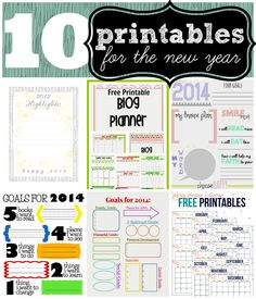 10 Printables for the New Year - Ginger Snap Crafts