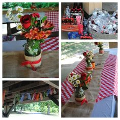 BBQ themed party -- this was for a Bridal Shower! So perfect - just love.
