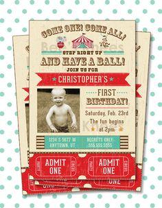printable Circus Birthday Invitation Tickets