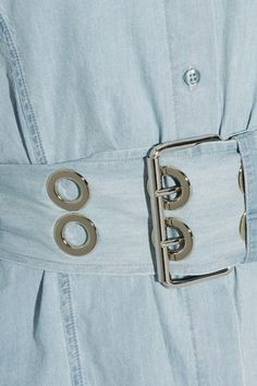 Marques' Almeida - Oversized Frayed Cotton-chambray Shirt - Light denim -