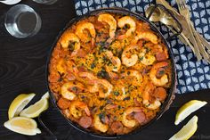 This simple Shrimp and Chorizo Paella is easy to make, has classic Spanish flavors and is an impressive crowd pleaser. This simple Shrimp and Chorizo Paella is easy to make, has classic Spanish flavors and is an impressive crowd pleaser. Best Shrimp Recipes, Rice Recipes, Seafood Recipes, Cooking Recipes, Shellfish Recipes, Greek Recipes, Yummy Recipes, Yummy Food, Easy Spanish Recipes