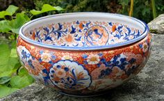 Antique Imari bowl - Japan c. 1890