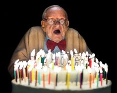 Irving Kahn celebrating his 106th birthday.  He still goes to work every day. Scientists are studying him and several hundred other Ashkenazim to find out what keeps them going and going and going.