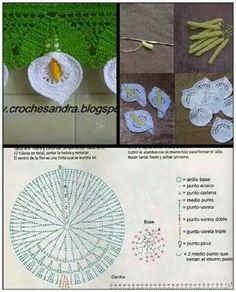 ✰ ♫ ♫ ✰ Copo-de-Leite em Crochê -  /  ✰ ♫ ♫ ✰ Glass of Milk Crochet -
