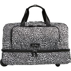 Vera Bradley Lighten Up Wheeled Carry-on Travel Duffel Bag ($198) ❤ liked on Polyvore featuring bags, luggage, green and travel duffels