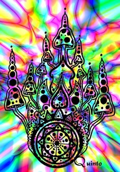 Magic Mushroom Art | magic mushrooms by ismaelquintocaro traditional art drawings ...
