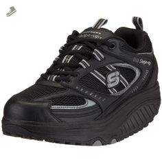 ladies black skechers shape ups