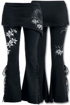 Spiral Direct Pure of Heart 2 in 1 Boot Cut Leggings with Micro Slant Skirt, Gothic Leggings [FM143433 / F029G459] - £25.99 :