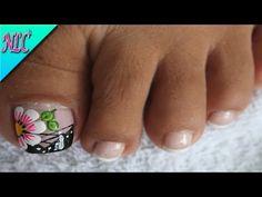 Beautiful Toes, Pretty Toes, Toe Nail Art, Toe Nails, Nail Art Designs, Manicure, Hair Beauty, Lily, Pedicures