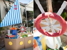Boats and Bubbles Birthday Party - #kidsparty #partyidea