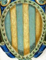 Coat of arms of Antonio Trivulzio (1457-1508). Created cardinal by Pope Alexander VI on 02/19/1500.