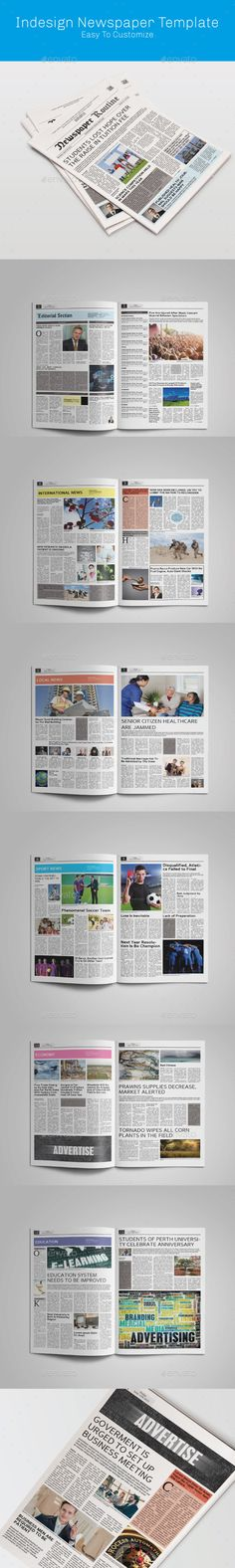 Pages Newspaper Template In A Format  Print  Template And