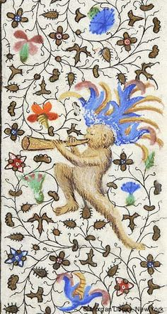 Monkey from Book of Hours, Ms. M. 453