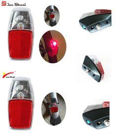 [Visit to Buy] JS Leds Battery Fender Bike Light Mount on the Mudguard Red Plastic Safe Warning Bicycle Taillight Bike Rear Light Flashlight #Advertisement