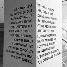 Art is pointless.... no, not true
