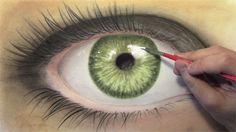 Eye green painting