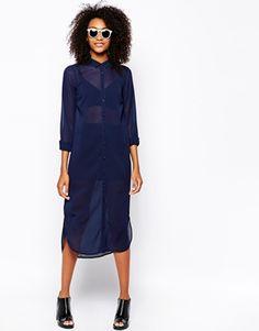 Vero Moda Maxi Shirt Dress