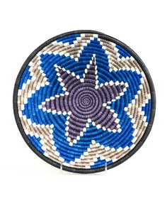 Fair Trade Handwoven Blue Basket