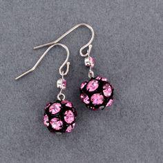 Limited Edition Sadie Green's Swarovski Crystal Earrings in Light Rose
