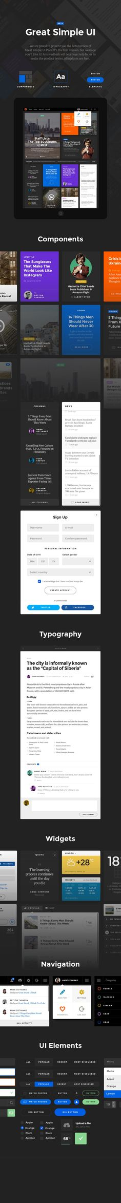 Greatsimple magazine ui | Infographics!!! | Pinterest