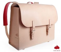 #Satchel from natural leather -the bags are sewn by a small manufactury in Poznan #Schulranzen aus Naturleder perfekter Start zum Schulanfang