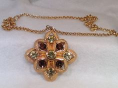 Yellow and Topaz Sarah Coventry Necklace