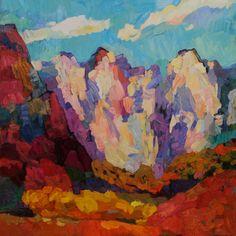 """Larisa Aukon at Mirada Fine Art, 'Teach Us to Listen,' Original Oil on Panel, 36"""" x 36"""""""