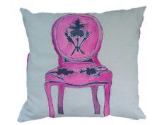 Krzesło Barokowe Różowe recznie malowane 50x50 w W.pelni Design na DaWanda.com