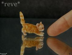 REALISTIC ONE OF A KIND SCULPTURE, SCALE Dollhouse Dolls, Miniature Dolls, Dollhouse Miniatures, Dolls Dolls, Miniature Houses, Palmer Clay, Felt Animals, Small Animals, Baby Animals