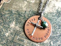 Faith Can Move Mountains Christian Necklace