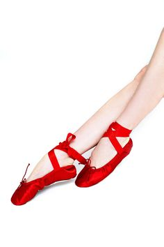 Satin Workout Slippers with Ribbons (more colors) - Shoes