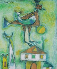jean dallaire / relate to chagall Jean Philippe, Ecole Art, Mixed Media Collage, Art Lessons, Art History, Birds, Second Grade, Drawings, Heaven