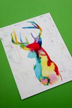 Watercolour deer (inspiring)