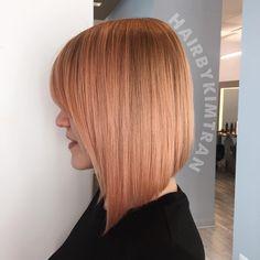 Rose Gold Hair Color Bob