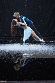 Portrait of Team USA ice dancing athletes Meryl Davis and Charlie White during USOC Media Summit photo shoot at Grand Summit Hotel. Simon Bruty F500 )
