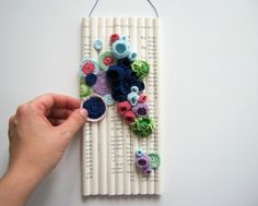 Modern Fiber Wall Art with Book Pages by FullFlowerMoon on Etsy Freeform Crochet, Thread Crochet, Crochet Motif, Free Crochet, Crochet Patterns, Crochet Ideas, Crochet Wall Art, Modern Artwork, Organic Shapes