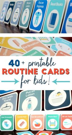 Got a baby, toddler, and preschooler who follow a routine with you? Here are some printable routine cards every stay at home mom needs.